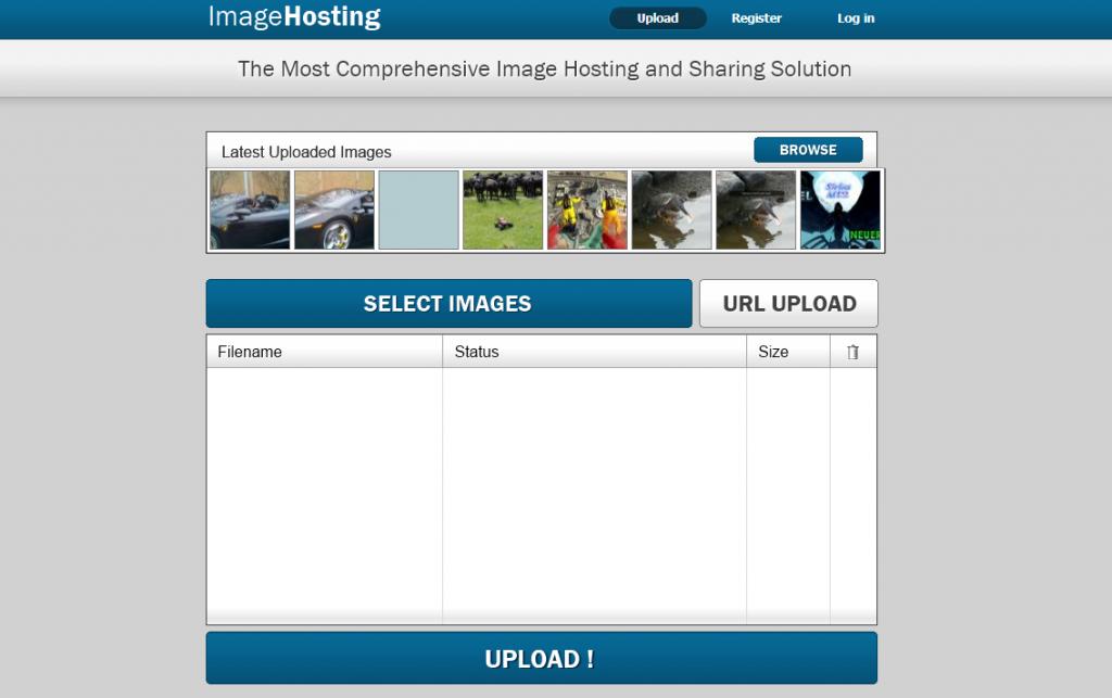 Image hosting script