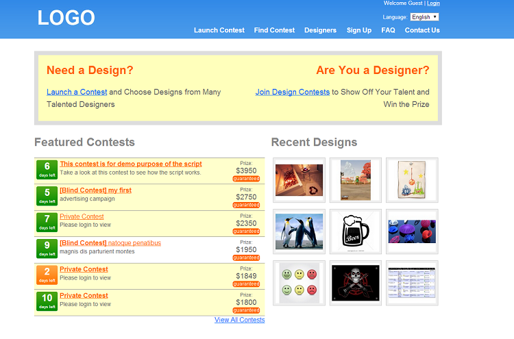 99designs clone scripts DesignContestScript