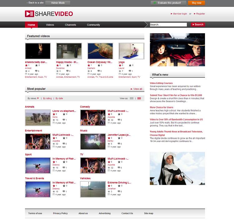 Allsharevideo software I User mode - youtube dailymotion clone