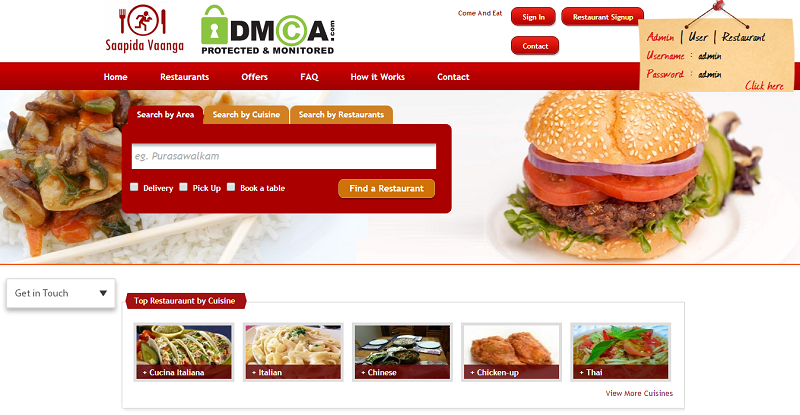 Online Food Ordering Software - Just Eat & Grubhub Clone