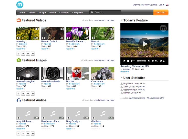MediaShare media sharing community website youtube imageshack clone script
