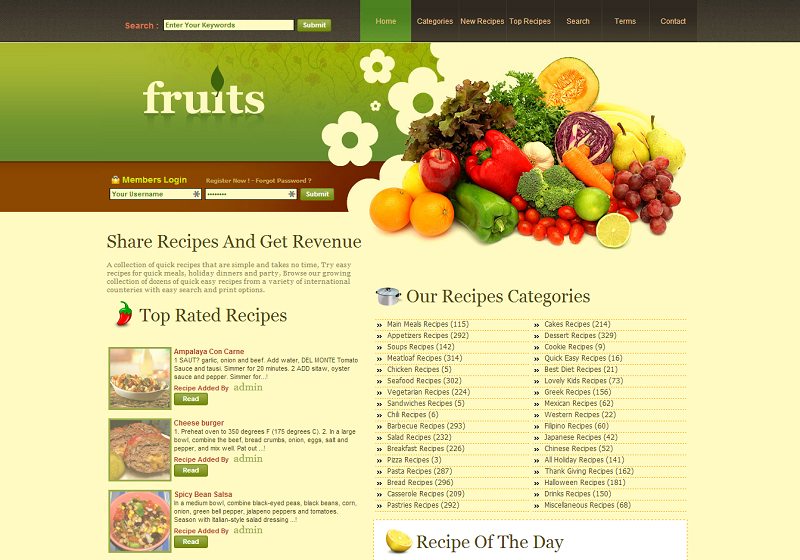 Recipes Script Share Recipes And Get Revenue Sharing