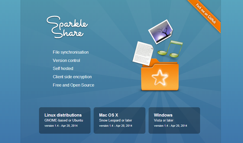 SparkleShare - Self hosted, instant, secure file sync